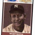 1989 Kenner Starting Lineup Mickey Mantle Baseball Card New York Yankees Oddball