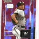2003 Leaf Certified Mirror Red Takihito Nomura Milwaukee Brewers Rookie #D 100/100 RARE