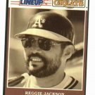 1989 Kenner Starting Lineup Baseball Greats Reggie Jackson Baseball Card A's Yankees Oddball