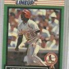 1989 Kenner Starting Lineup Vince Coleman Baseball Card St. Louis Cardinals Oddball