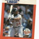 1988 Kenner Starting Lineup Kirby Puckett Baseball Card Minnesota Twins Oddball