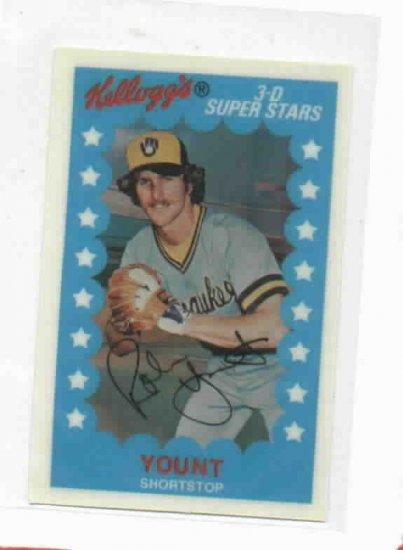 1982 Kelloggs 3d Superstars Robin Yount Baseball Card
