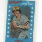 1982 Kelloggs 3D Superstars Robin Yount Baseball Card Milwaukee Brewers