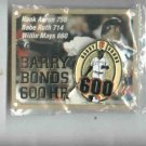 Barry Bonds 600 HR Pin San Francisco Giants Oddball