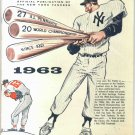1963 New York Yankees Yearbook Revised Edition