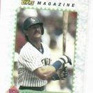 1990 Topps Magazine Robin Yount Baseball Card Milwaukee Brewers