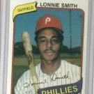 1980 Topps Burger King Lonnie Smith Philidelphia Phillies Oddball Card