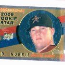 2009 Topps Heritage Chrome Bud Norris Houston Astros Rookie Card #D / 1960