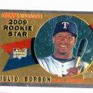 2009 Topps Heritage Chrome Julio Borbon Texas Rangers Rookie Card #D / 1960