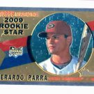 2009 Topps Heritage Chrome Gerardo Parra Arizona Diamondbacks Rookie Card #D / 1960