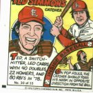 1979 Topps Comic Ted Simmons St. Louis Cardinals ODDBALL