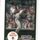 1990 Kenner Starting Lineup Paul Molitor Milwaukee Brewers Baseball Card Oddball