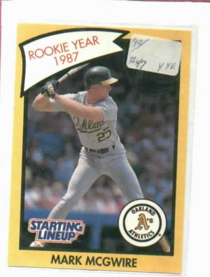 1989 Kenner Starting Lineup Mark Mcgwire Rookie Year 1987