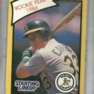 1989 Kenner Starting Lineup Jose Canseco Rookie Year 1986 Baseball Card Oddball A's