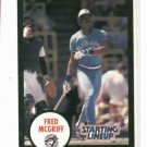 1990 Kenner Starting Lineup Fred McGriff Baseball Card Toronto Blue Jays Oddball