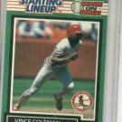 1989 Kenner Starting Lineup One On One Vince Coleman Baseball Card St. Louis Cardinals Oddball