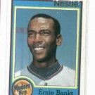 1987 Nestle Modern Era Erine Banks Baseball Card Chicago Cubs Oddball