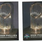 Pair Of 2009 Philidelphia Phillies World Champions Pocket Schedules