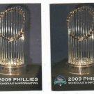 Pair Of 2009 Philidelphia Phillies World Champions Pocket Schedules