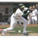 2008 Upper Deck Rajai Davis Farmers Insurance Oakland A's Stadium Give Away SGA