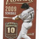 2009 Houston Astros Pocket Schedule Lance Berkman