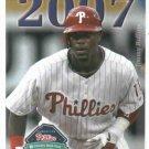 2007 Philidelphia Phillies Pocket Schedule Jimmy Rollins