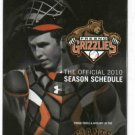 2010 Fresno Grizzlies Pocket Schedule Giants
