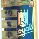 2005 Donruss Elite Teams Kansas City Royals #D/ 1000 George Brett Bo Jackson Frank White