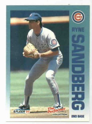 1992 Fleer Citgo 7-11 The Performer Collection Ryne Sandberg Oddball Cubs