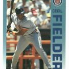 1992 Fleer Citgo 7-11 The Performer Collection Cecil Fielder Oddball Detroit Tigers