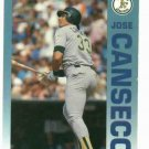 1992 Fleer Citgo 7-11 The Performer Collection Jose Canseco Oddball Oakland A's