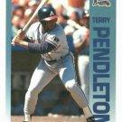 1992 Fleer Citgo 7-11 The Performer Collection Terry Pendelton Oddball Atlanta Braves