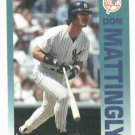 1992 Fleer Citgo 7-11 The Performer Collection Don Mattingly Oddball New York Yankees