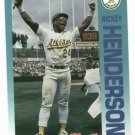 1992 Fleer Citgo 7-11 The Performer Collection Rickey Henderson Oddball Oakland A's