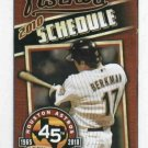2010 Houston Astros Pocket Schedule Lance Berkman
