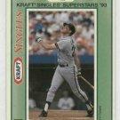 1993 Kraft Singles Will Clark Baseball Card San Francisco Giants Oddball