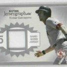 2004 Fleer Skybox Jerseygraphics Nomar Garciaparra Jersey Card Boston Red Sox #D /100