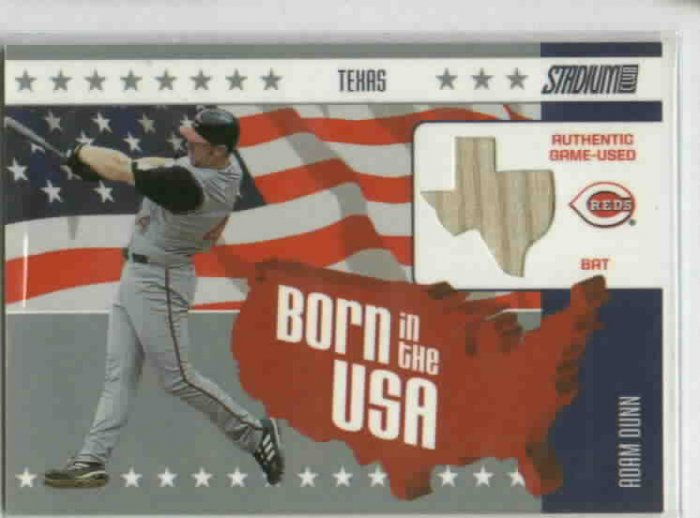2002 Topps Stadium Club Born In The USA Adam Dunn Bat Card Cincinnati Reds