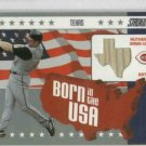 2002 Topps Stadium Club Born In The USA Adam Dunn Bat Card Cincinnati Reds