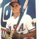 1991 Topps Stadium Club Team USA Gason Giambi Oakland A's Rookie
