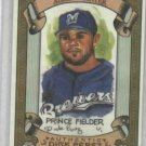 2007 Topps Allen & Ginter Dick Perez Sketch Card Prince Fielder Milwaukee Brewers