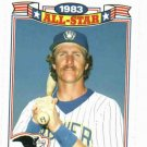 1984 Topps 1983 All Star Game Robin Yount Milwaukee Brewers