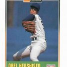 1993 Duracell Orel Hershiser Los Angeles Dodgers Baseball Card Oddball
