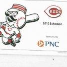 2010 Cincinnati Reds Pocket Schedule