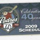 2009 San Diego Padres Pocket Schedule
