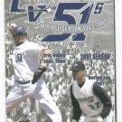 2007 Las Vegas 51s Pocket Schedule Eric Gagne Derek Lee