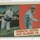 1961 Topps Baseball Thrills Brooklyn Boston Red Sox 26 Inning # 403