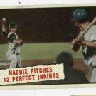 1961 Topps Baseball Thrills Harvey Haddix # 410 Pittsburgh Pirates
