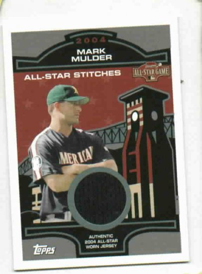 2004 Topps All Star Stitches Mark Mulder Jersey Card Oakland A's
