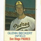 1975 Hostess Glen Beckert San Diego Padres # 103 Nice